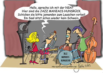 Lauscher Cartoon ©www.groovygrafillero.de, ©Jo Savin